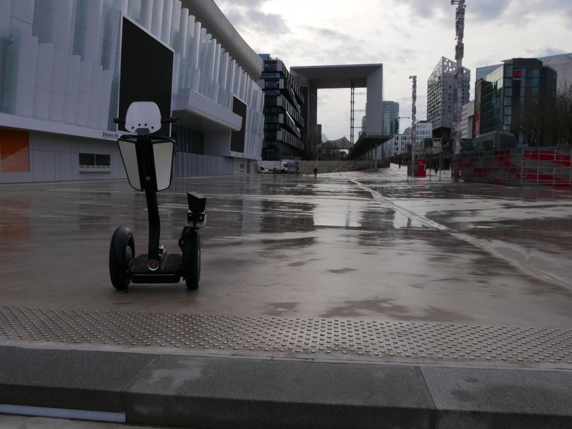 The first PICOPAK mounted on a Segway in France